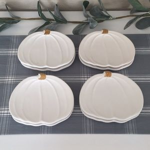 🍁WHITE PUMPKIN Appetizer Plates (8)